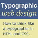 typographic web design book cover